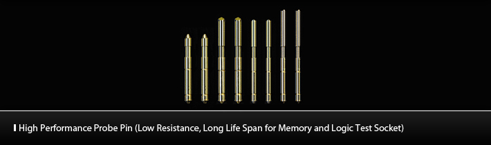 High Performance Probe Pin (Low Resistance, Long Life Span for Memory and Logic Test Socket)